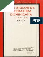 Dos Siglos de Literatura Dominicana (S. XIX - XX) Prosa (I)