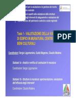 Edifici in Muratura Centri Storici e Beni Culturali Lagomarsino