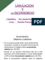 Acumulación y Litisconsocio