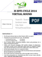 Efficycle 2014 _Virtual Presentation Format