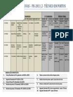 Calendário de Provas - p2_ Segchamada_pf_2013_1 - Téc. Portos