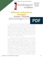 Heidegger en Castellano - Vattimo - Nietzsche, Intérprete de Heidegger