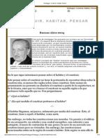 Heidegger_ Construir, Habitar, Pensar