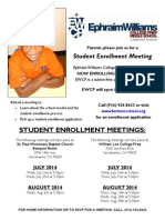 2014-2015 Student Enrollment Meeting - EWCP