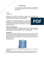Esterilizacion y Pasteurización