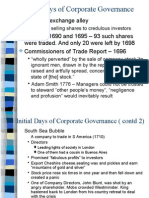1 - Initial Days of Corporate Governance