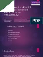 Govt Using Social Media