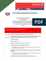 Agenda - Internationalizarea Educatiei - Eveniment LSRS British Council