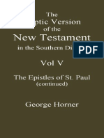The Coptic Version of the New Testament in the Southern Dialect Vol v Epistles of Paul Cont. Horner