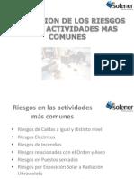 Prevención de Riesgos en Las Activdades Mas Comunes SOLENER