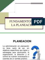 Fundamentos de La Planeación