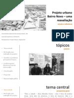 Projeto Urbano Bairro Novo – Uma Reavaliação