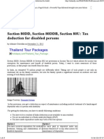 Section 80DD, Section 80DDB, Section 80U_ Tax Deduction for Disabled Persons