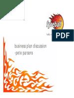 Pete Parsons Fyreball Business Plans