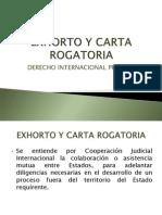 Exhorto y Carta Rogatoria 27-05-2014