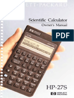 Hp27s Manual