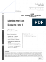 Maths Ext. 2008 Trial & Solutions
