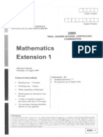 Maths Ext. 2009 Trial & Solutions