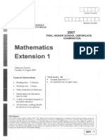 Maths Ext. 2007 Trial & Solutions