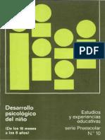 Desarrollo Psicologico Del Nino de 18 Meses a 8 Anos
