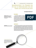 9 La Observación y El Diario de Campo en La Definición de Un Tema de Investigación
