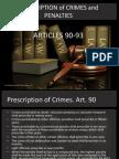Prescription of Crimes and Penalties