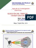 3.1. Eleccion Del Tema de Investiacion 2014