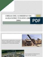 Obras Del Gobierno de Alejandro Toledo (2001-2006