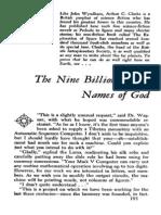 The Nine Billion Names Of God