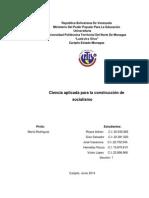 Impacto Delos Avances Cientificos y Tecnologicos en El Medio Social en America Latina