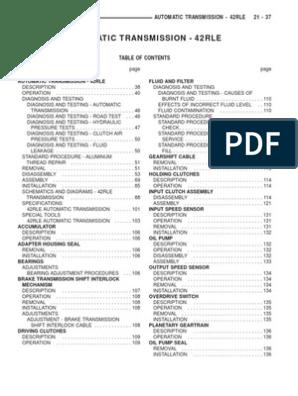 42RLE AUTOMATIC TRANSMISSION | Automatic Transmission | Transmission  (Mechanics)Scribd