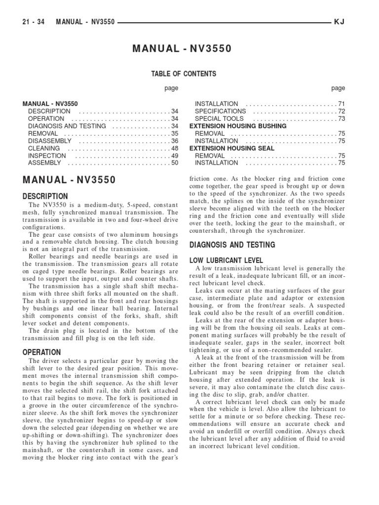 manual transmission nv3550 transmission mechanics clutch rh scribd com