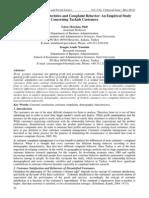 Demographic Characteristics and Complaint Behavior-An Empirical Study Concerning Turkish Customers