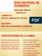 1º Lamina Dibujo de Letras Unc