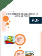 Conocimiento de Embarque y La Carta de Porte Diapositivas