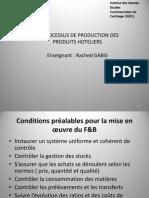 Le Processus de Production Des Produits Hoteliers