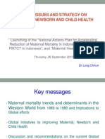 WHO Indonesia Global Issues and Strategy on MNCH Original