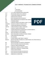 Abreviaturas y Siglas Utilizadas en El Comercio Exterior