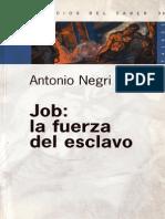 Job La Fuerza Del Esclavo. Antonio Negri