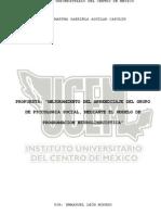 Mejoramiento del aprendizaje del grupo de psicologia social, mediante el modelo de programacion neurolinguistica