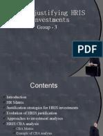 Evolution of HRIS Justification, Ravenshaw Management Centre