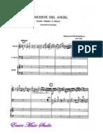 Piazzolla, Astor, Trio, Violin, Cello, Piano, Score, La Muerte Del Angel