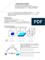 Particle Theory Worksheets