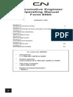 Locomotive Engineers Manual Form 8960