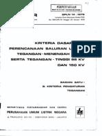 SPLN 14 1979 Perencanaan 20kv,66kv,150kv