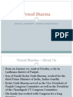 Venod Sharma - Social Activist, Indian Politician, Education