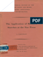 The Application of Modified Starches at the Size Press