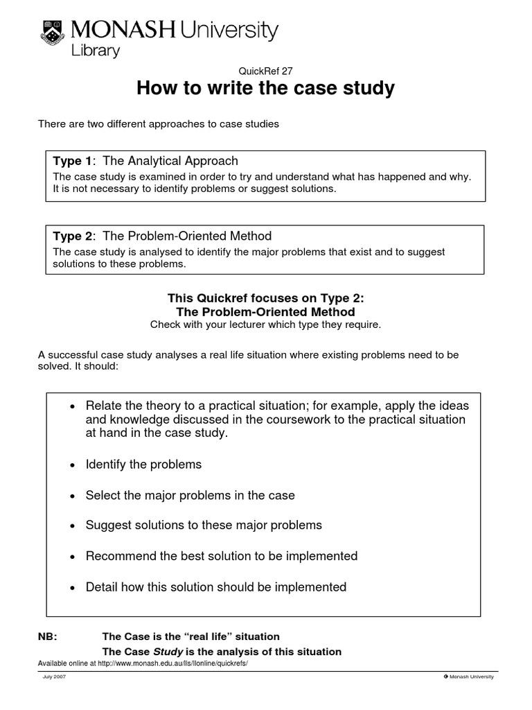 how to write case study analysis
