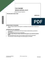 Unit r001 Pre Release Case Study June 2014