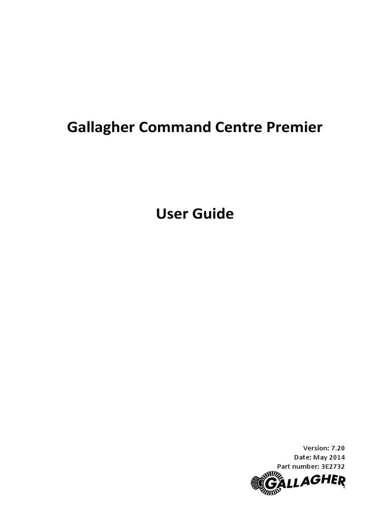 3e2732 gallagher command centre premier user guide v7 20 rh scribd com premier user manual fiserv premier user guide